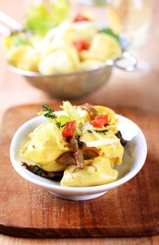Tortellini Appetizer Royalty Free Stock Photography