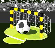 Soccer Gate Royalty Free Stock Photography