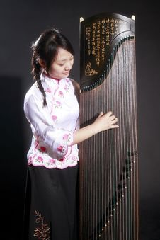 Chinese Zither Musician Royalty Free Stock Photos