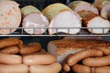 Free Sausages And Ham Royalty Free Stock Images - 13703089