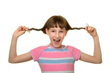 Free Happy Girl With Plaits Stock Photos - 13703803