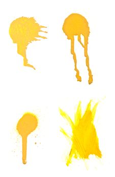 Free Collection Of Grungy Spray Splats. Stock Images - 13704124