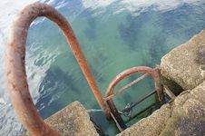 Free Iron Staircase Embedded In Dock Stock Images - 13704234