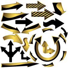 Set Of Arrow Icons Royalty Free Stock Image