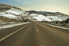 Free Mountain Freeway Stock Images - 13704974
