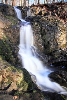 Water Falls In New Jersey Stock Photo