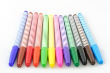 Color Pens Stock Photo