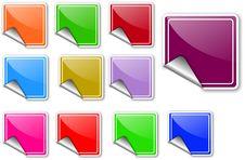 Free Sticker Set Stock Image - 13705741