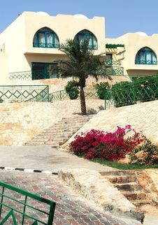 Summer Resort In Arabian Style Royalty Free Stock Photography