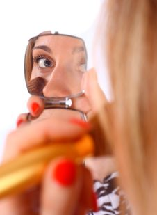 Free Woman Looking In To The Mirror Royalty Free Stock Photography - 13706767