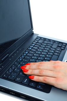 Free Fingers Typing Stock Image - 13706821