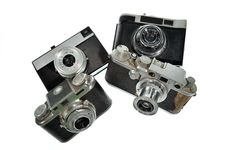 Free Old Cameras Stock Photography - 13707052