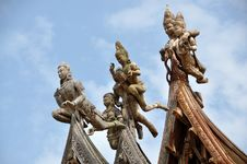 Pattaya, Thailand: Sanctuary Of Truth Carvings Stock Image