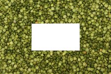 Background Of Dried Green Peas With Text Place Royalty Free Stock Photo