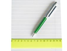 School Writing-book, Ruler And Pen Royalty Free Stock Images