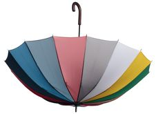 Umbrella Flying Down Royalty Free Stock Images