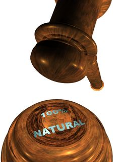 Free Gavel With 100 NATURAL Royalty Free Stock Photography - 13707477