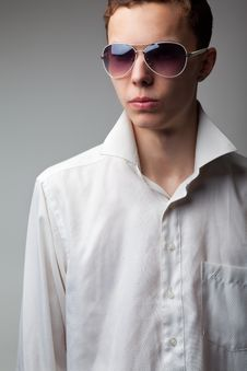 Young Handsome Man In Sunglasses Stock Photos