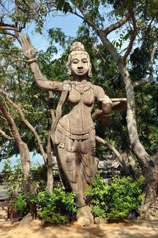 Pattaya, Thailand: Sanctuary Of Truth Statue Stock Photography
