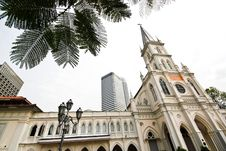 Free Front Church, Singapore Royalty Free Stock Image - 13708756