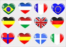 Free Flags  Glass Heart Royalty Free Stock Photos - 13708758