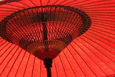 Red Japanese Umbrella Royalty Free Stock Images