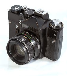 Old 35mm Camera Royalty Free Stock Photography