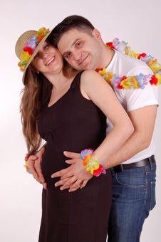 The Pregnant Woman And The Man Stock Image