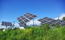 Free Photovoltaic Panels . Stock Images - 13709194