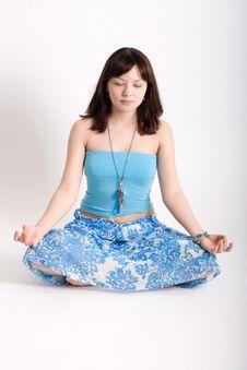 Free Hippie Meditating Stock Photography - 13709452