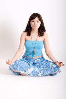 Free Hippie Meditating Stock Photo - 13709460