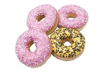Free Four Isolated Doughnuts Stock Image - 13709481