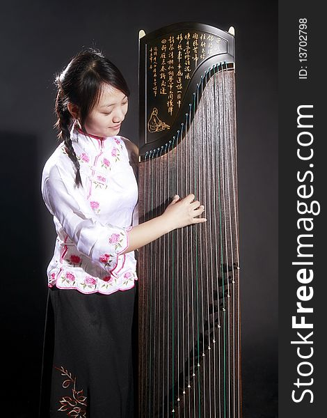 Chinese zither musician
