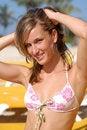 Free Blond Sexy Woman In Bikini On The Beach Stock Image - 13714231
