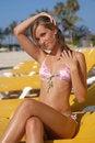 Free Woman On Hammock Enjoying The Beach On Nice Day Royalty Free Stock Image - 13714236