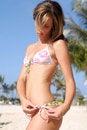 Free Blond Sexy Woman In Bikini On The Beach Royalty Free Stock Photo - 13714245