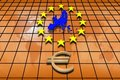 Free Stars And Euro Symbol Stock Photography - 13714562