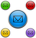 Free Mail Web Buttons Stock Photo - 13714720