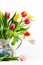 Free Bouquet Of The Fresh Tulips Stock Photos - 13717493