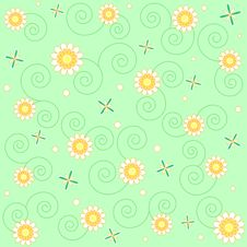 Free Flowers And Swirls Stock Images - 13710434