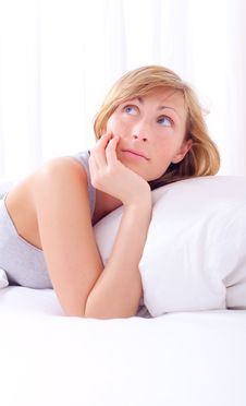 Free Bed Woman Stock Photography - 13710502