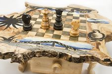 Free Chessboard Of Wood Stock Photos - 13710633