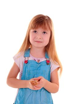 Free Small Girl Needs Advice Stock Photography - 13710652