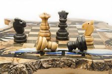 Free Chessboard Of Wood Stock Image - 13710681