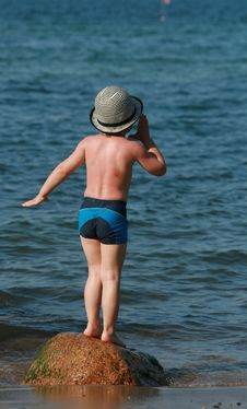 Happy Summer Child Stock Photography