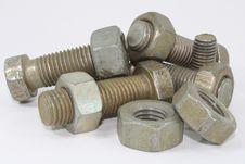 Free Nuts, Bolts. Stock Photos - 13710953