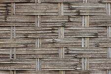 Pattern In A Bamboo Mat Royalty Free Stock Photo