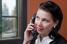 Free Businesswoman Talking On The Phone Stock Images - 13712774