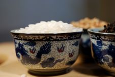 Free Grains In Chinese Cups Royalty Free Stock Photography - 13712997