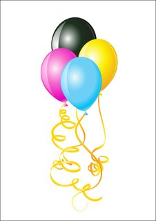 Free Balloons Of CMYK Colors Stock Photos - 13713023